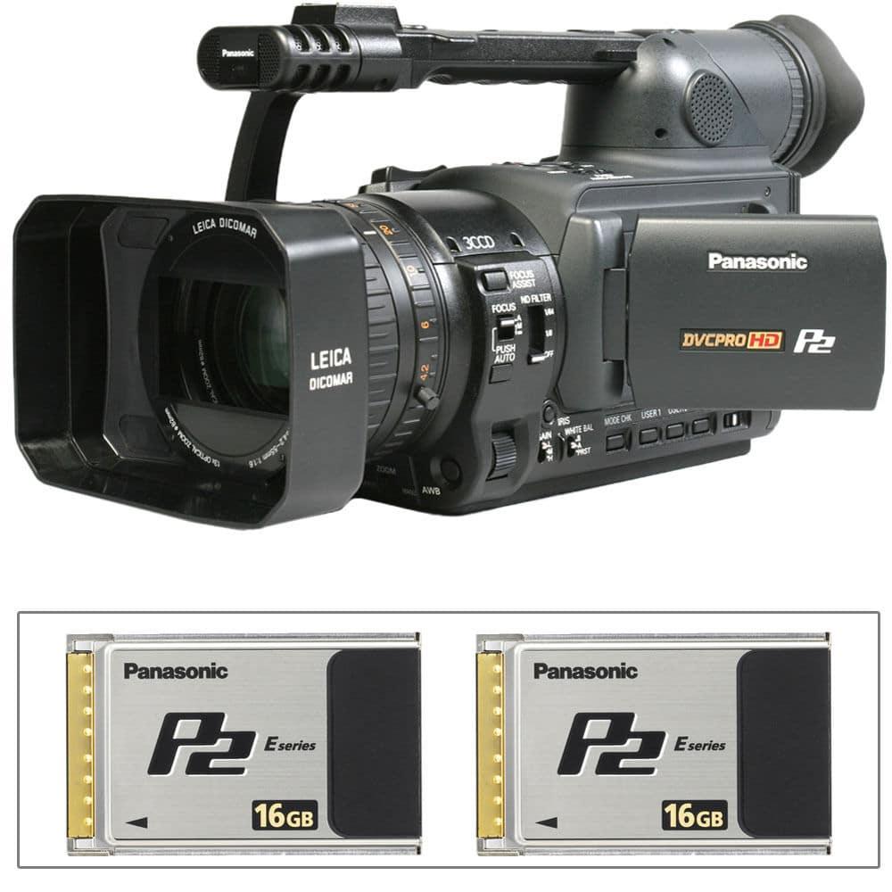 Panasonic AG-HVX200 com P2-Cards Logger