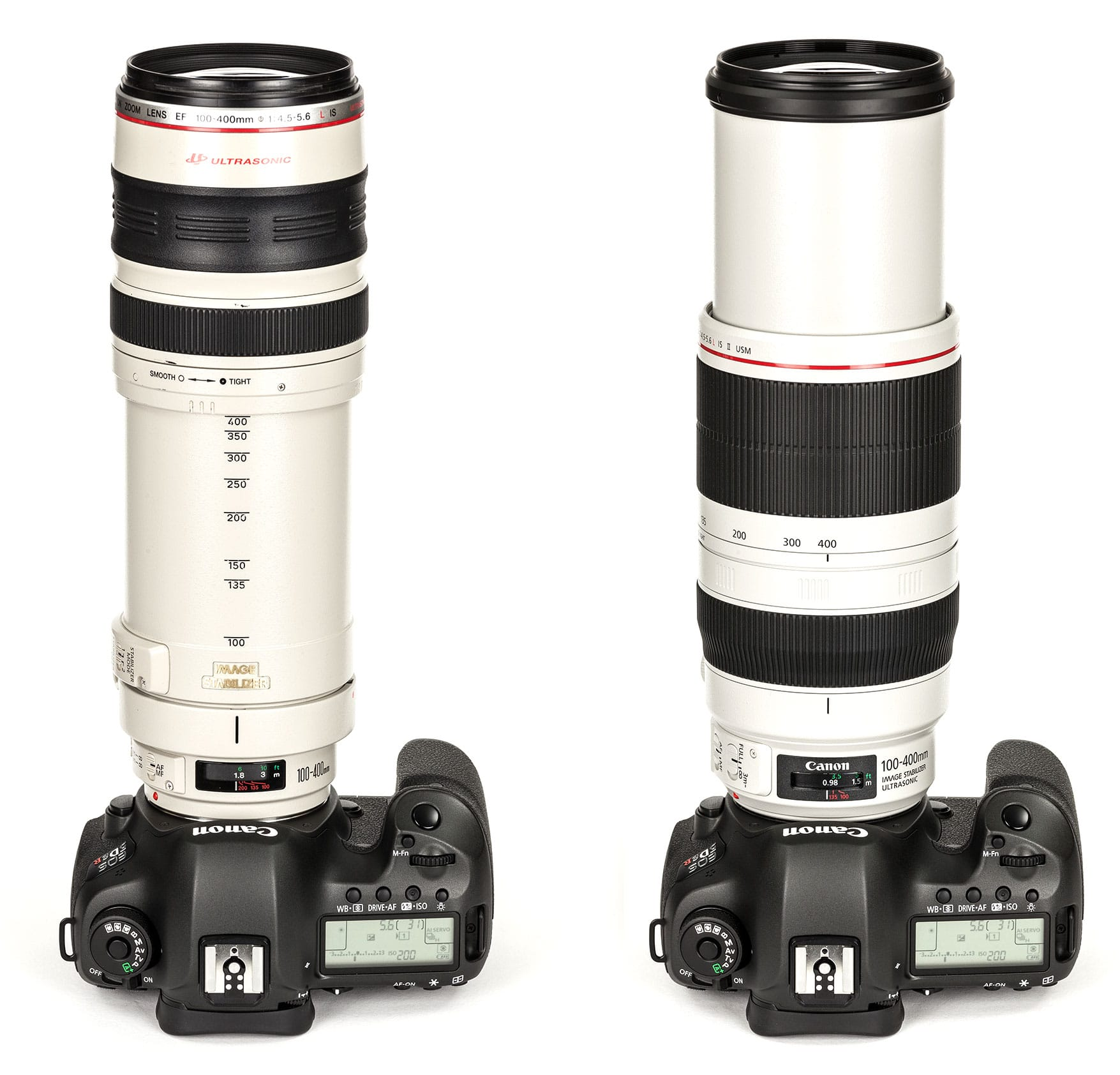 Comparação Mark 1 e Mark 2 - Lente Canon 100-400mm F4.5-5.6 IS USM Mark II