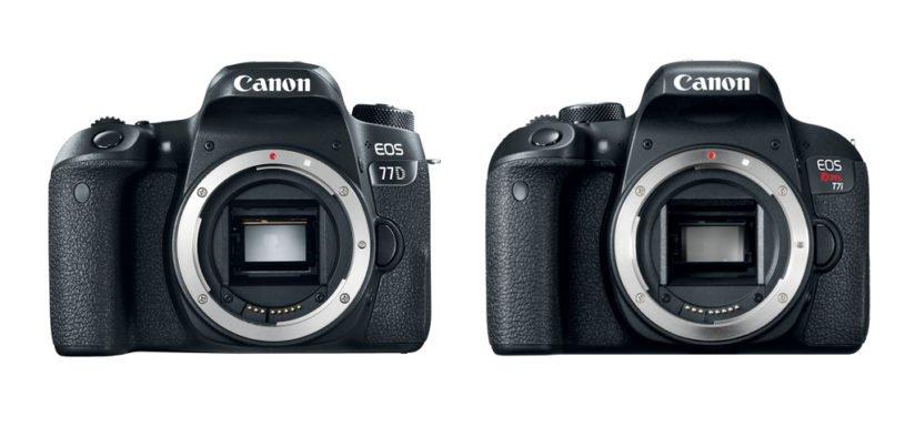 Canon EOS Rebel 77D e a Rebel T7i