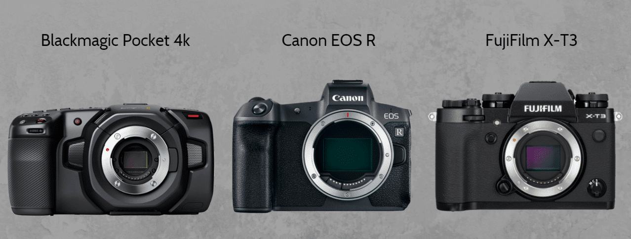 Batalha de Câmeras 4K - Blackmagic Pocket 4K vs Canon EOS R vs FujiFilm XT3