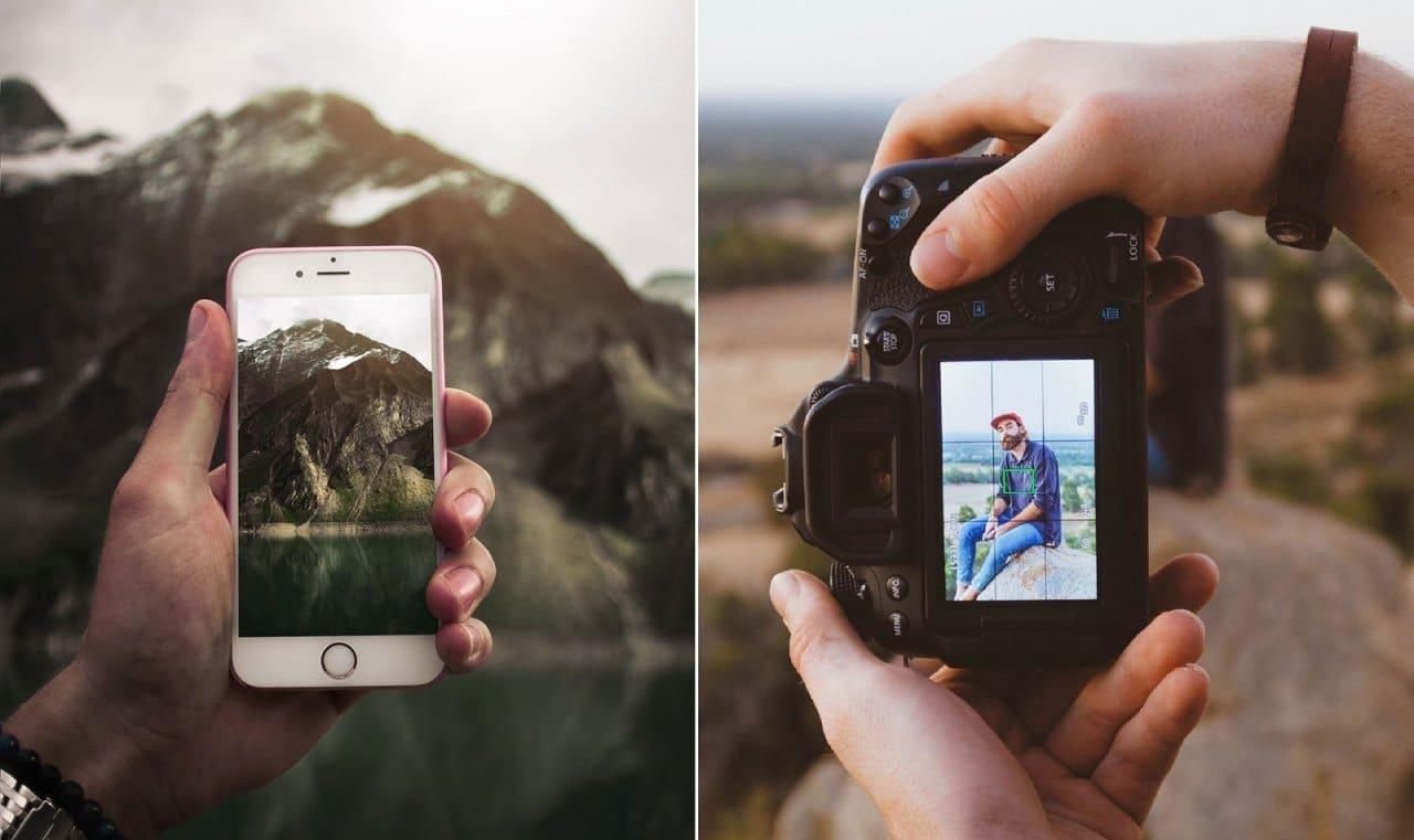 SmartPhone vs Câmera Mirrorless vs DSLR