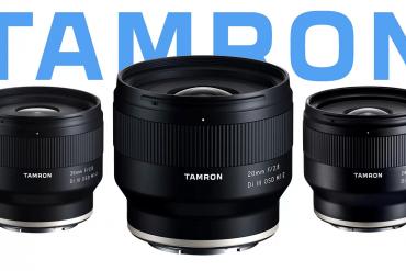 Novas atualizações de firmware para Lentes Tamron 20mm, 24mm, 35mm