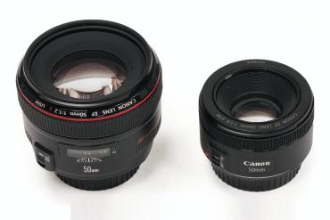 Lente Canon 50mm f/1.8 vs 50mm f/1.2